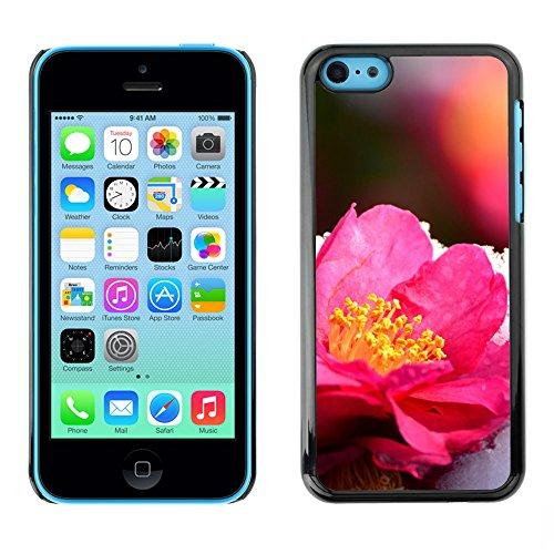 Premio Sottile Slim Cassa Custodia Case Cover Shell // F00017635 Fleur rose // Apple iPhone 5C