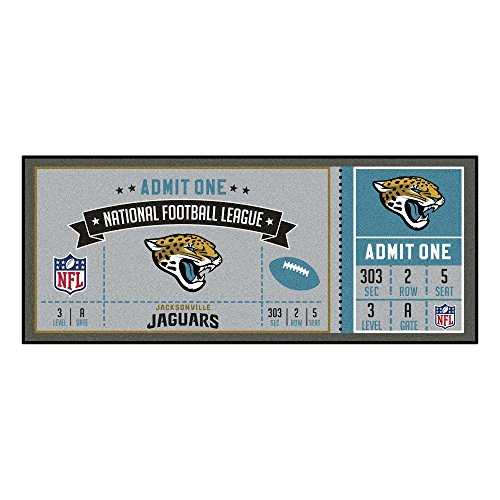 FANMATS NFL Jacksonville Jaguars NFL-Jacksonville Jaguarsticket Runner, Team Color, One Size