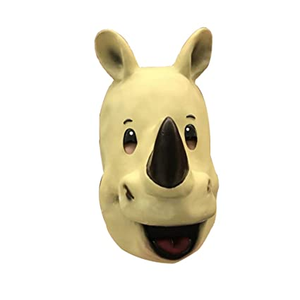 Latex Rhinoceros mask Hood Halloween Party Costume Decorative mask