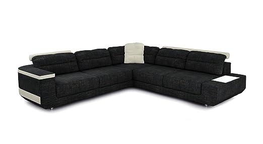 Eckcouch Sofa Couch Stoff Wohnlandschaft Modern Design Ecksofa L