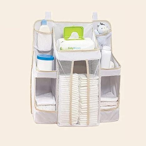 Organizador de pañales para bebé, bolsa de almacenamiento para colgar en la mesita de noche