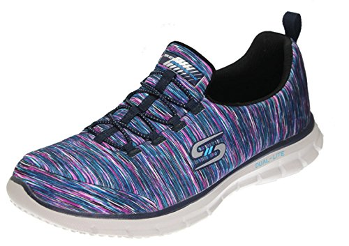 Skechers Sport Vrouwen Glider Elektriciteit Sneaker Marine / Multi-strepen