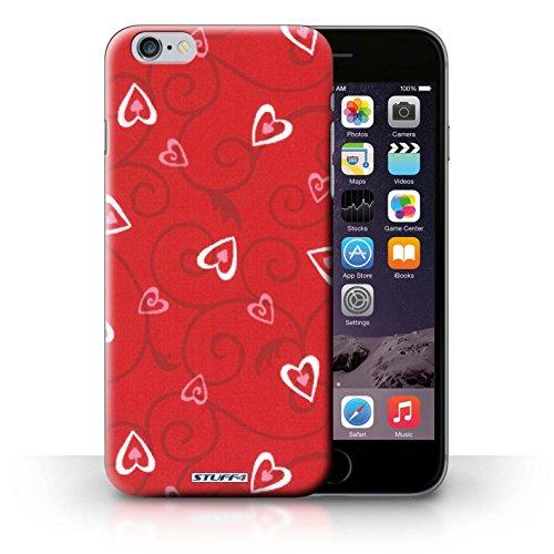 iCHOOSE Print Motif Coque de protection Case / Plastique manchon de telephone Coque pour iPhone 6+/Plus 5.5 / Collection Coeur Vigne Motif / Rouge/Rose