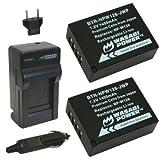 Batería (2-Pack) y el cargador para Fujifilm NP-W126 y Fuji FinePix HS30EXR, HS33EXR, HS50EXR, X-A1, X-E1, E2-X, X-M1, X-Pro1, X-T1