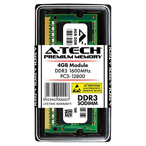 A-Tech 4GB DDR3 1600MHz PC3-12800 204-pin SODIMM Laptop Notebook Computer Memory RAM Module
