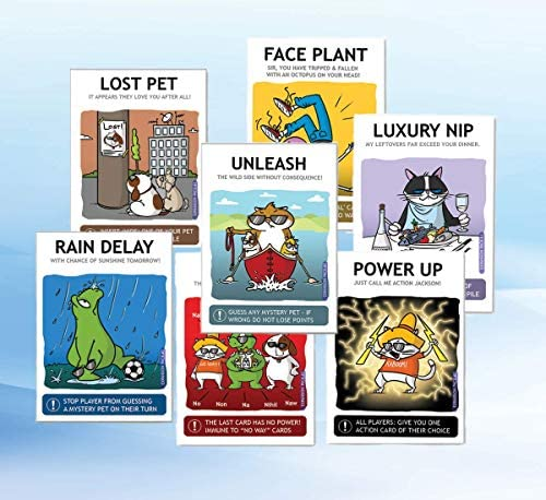 Unleash The Wild Side: This is The First Expansion of Shady Pets/Pets Gone Shady Card Game - Card Games for Adults, Teens & Kids Blue