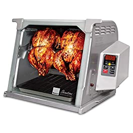 Ronco Showtime Large Capacity Rotisserie & BBQ Oven Platinum Edition, Digital Controls, Perfect Preset Rotation Speed…