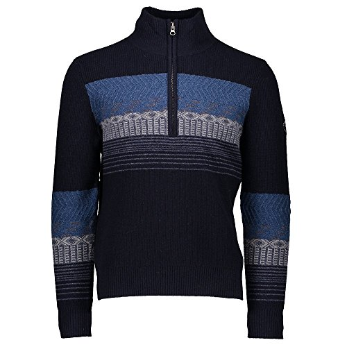 (Obermeyer Men's Textured 1/2 Zip Sweater Nocturnal Blue Medium)