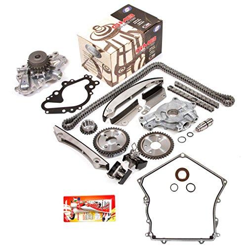 Fits 02-06 Dodge Chrysler 2.7 DOHC 24V VIN R, T, U Timing Chain Kit Oil Pump GMB Water Pump Timing Cover Gasket