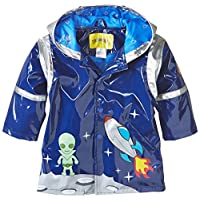 Kidorable Blue Space Hero All-Weather Raincoat for Boys w/Fun Spaceship Pocket, Astronaut Helmet
