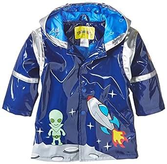 Kidorable Boys' Little Space Hero All Weather Waterproof Coat, Blue, 2T