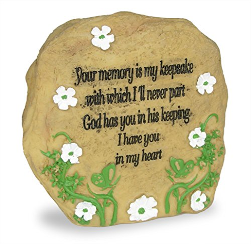 (BANBERRY DESIGNS Memorial Rock - Desktop Rock Size with I Thought of You with Love Today Saying - Loss of a Loved One - Sympathy Gift)