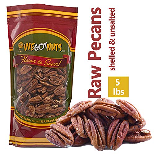 Bulk Nuts, Nut Usa. Pecan Halves, 5-Pound - We Got Nuts