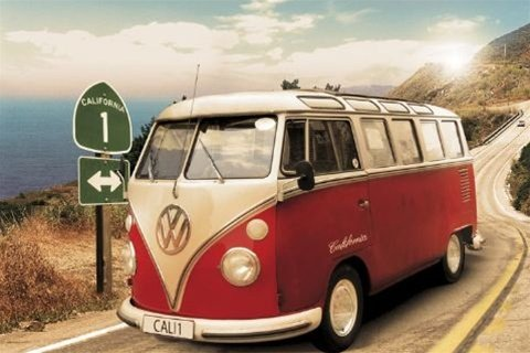 Volkswagen California Cruisin' VW Bus Vintage Car Travel