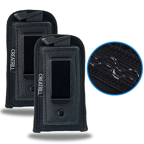 Creatrill 2 PACK Pistol Magazine Holsters | Inside The Waistband IWB Tactical Mag Holder | Concealment Single Double Stack Mag Pouch for 9mm/.40 cal/380 (small single stack 380/22/25 Cal)
