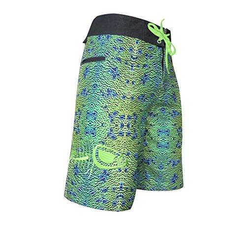 Tormenter Men's 5-Pocket Waterman Fishing Board Shorts (Mahi Skin, 28)