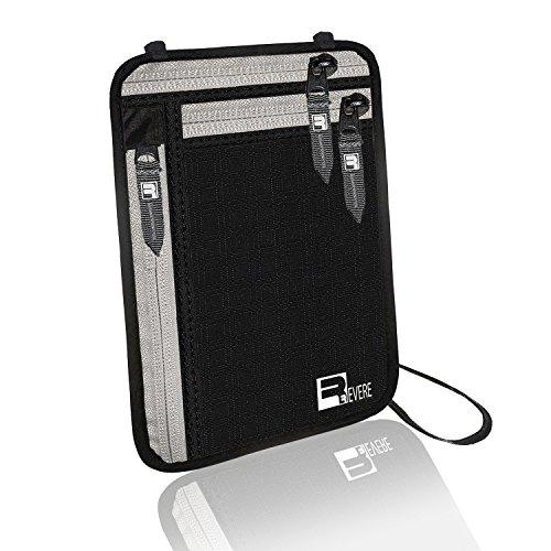RFID Neck Pouch Passport Wallet Traveler Safe Money Holder iPhone Phone Stash by Revere Sport (Image #1)