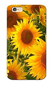 For Iphone 6 Fashion Design Sunflower Field Case-Vfk143GSoMc / Cover Specially Made For Thanksgiving Day's Gift