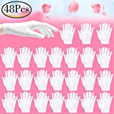 Outee 24 Pairs Hand Spa Gloves Moisturizing Therapeutic Cosmetic Gloves Cotton Cosmetic Moisturizing White Gloves for Dry Hands and Beauty