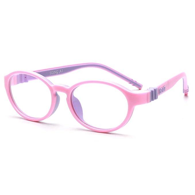 232d6260f8 Amazon.com  Fantia Kids Eyeglasses Frame Child myopia giasses Super Flex  Arm Oval (1 )  Clothing