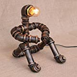 Industrial Feng Shui Desk Lamp LOFT Retro Wrought-iron Living Room Bedroom Bedroom Study Bookstore Hotel Bedside Table Lamp