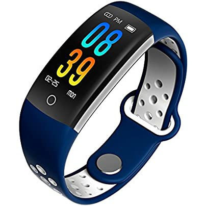 Dynamic Heart rate Fitness tracker Smart bracelet With Sleep Blood pressure Blood oxygen Monitoring Waterproof Pedometer Distance Calorie counter Intelligent Notification Wristband Watch-C Estimated Price -
