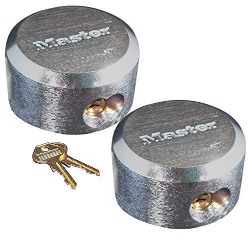 Master Lock 6271KA 2 Pack 2-7/8in. ProSeries Reinforced Hidden Shackle Rekeyable Pin Tumbler Keyed Alike Padlock, Chrome 4 Pin Tumbler Steel Padlock