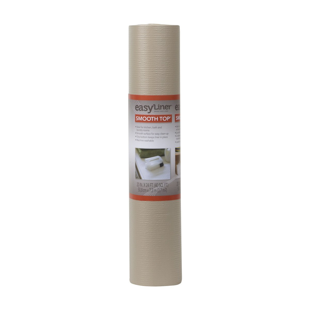 Duck Brand 281873 Smooth Top Easy Liner Non-Adhesive Shelf Liner, 20-Inch x 24-Feet, Taupe
