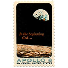 US Postage Stamp 1969 Single Apollo 8 Moon Orbit In The Beginning God...Issue 6 Cents Scott #1371