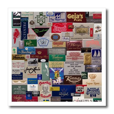 (Perkins Designs Photography - Match Books digital collage of a national and international match book collection - 10x10 Iron on Heat Transfer for White Material (ht_20503_3))
