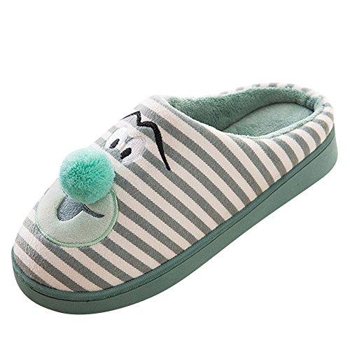 Emoji Pantoufle Unisexe Clair Parent Marrant Peluche Chaud Chaussures Vert Mignons Chaussons enfant Slipper wqgOIq
