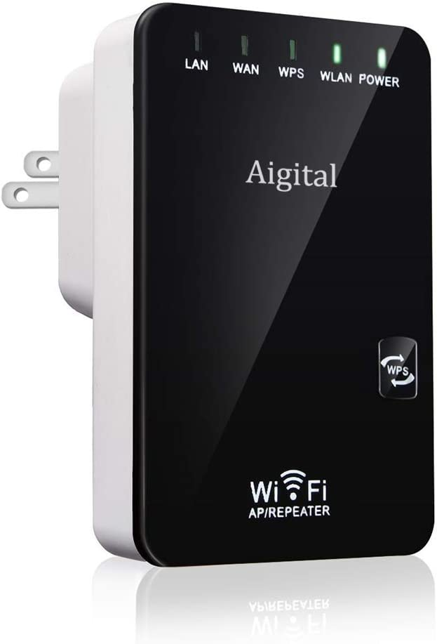 WiFi Extender Aigital Wireless Network Superboost WiFi Repeater Mini Router Signal Booster WiFi Extension Internet Access Point High Gain with WPS Function WiFi Range Amplifier