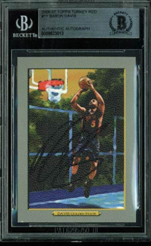 Warriors Baron Davis (Warriors Baron Davis Autographed Signed Trading Card 2006 Topps Turkey Red - Beckett Authentic)