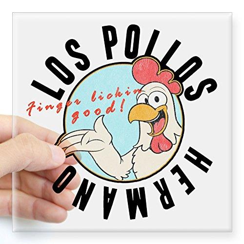 CafePress - Los Pollos Sticker - Square Bumper Sticker Car Decal, 3
