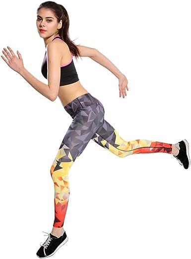Leggins Mujer Fitness, Malla de Pantalón Cintura Alta Pantalones De Longitud EláStica Impresa Casual Pantalones Deportivos Largos De Correr Leggings EláSticos De Flaco Fitness Leggins Mujer: Amazon.es: Ropa y accesorios