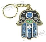 Key Ring HAMSA HAND Chain Evil Eye Judaism Israel Lucky Charm Kabbalah - G