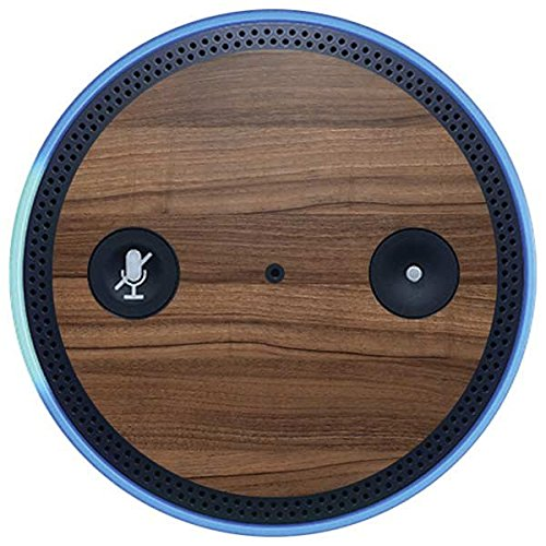 Skinit Wood Amazon Echo Plus Skin - Natural Walnut Wood Design - Ultra Thin, Lightweight Vinyl Decal Protection