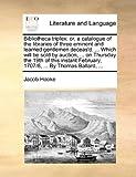 Bibliotheca Triplex, Jacob Hooke, 1170405541
