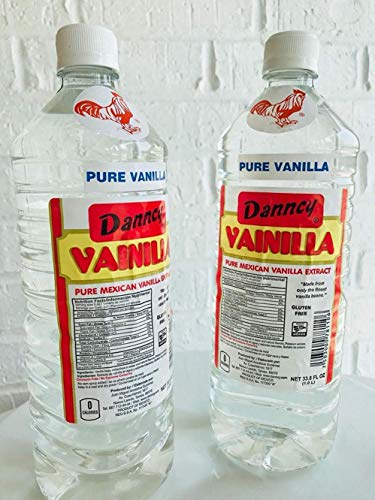 2 X Danncy Clear Pure Mexican Vanilla Extract From Mexico 33oz Each 2 Plastic Bottle Lot - Frosting Bacon