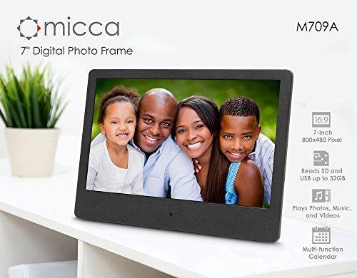 Micca NEO 7-Inch Digital Photo Frame with High Resolution Widescreen LCD