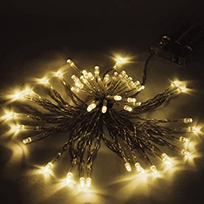 ALEKO 30 LED 10 Feet Battery Operated String Lights Christmas Holiday Lights Warm White Color, Lot of 5