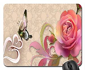 Floral Mouse Pad, Mousepad (Flowers Mouse Pad, 10.2 x 8.3 x 0.12 inches)