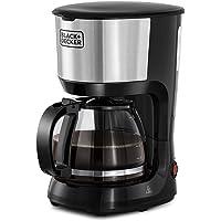 ماكينة تحضير القهوة لعدد 10 اكواب بقوة 750 واط من بلاك اند ديكر مع ابريق زجاجي لاعداد القهوة بالتنقيط، فضي/ اسود…