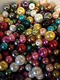 Cocoa's Accessories Glass Pearls Lamp Work Colorful Bead Mix 100 total of 4mm, 6mm,& 8mm,,