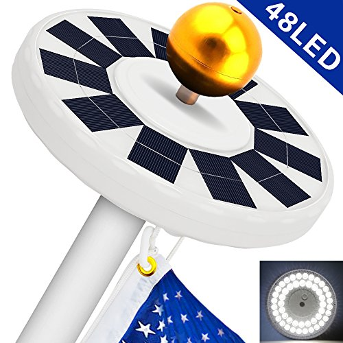 Flag Pole Lights Solar Powered