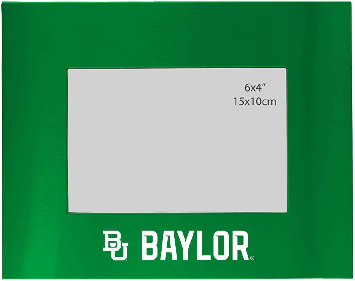 Amazon Com Baylor University 4x6 Brushed Metal Picture Frame Green Single Frames