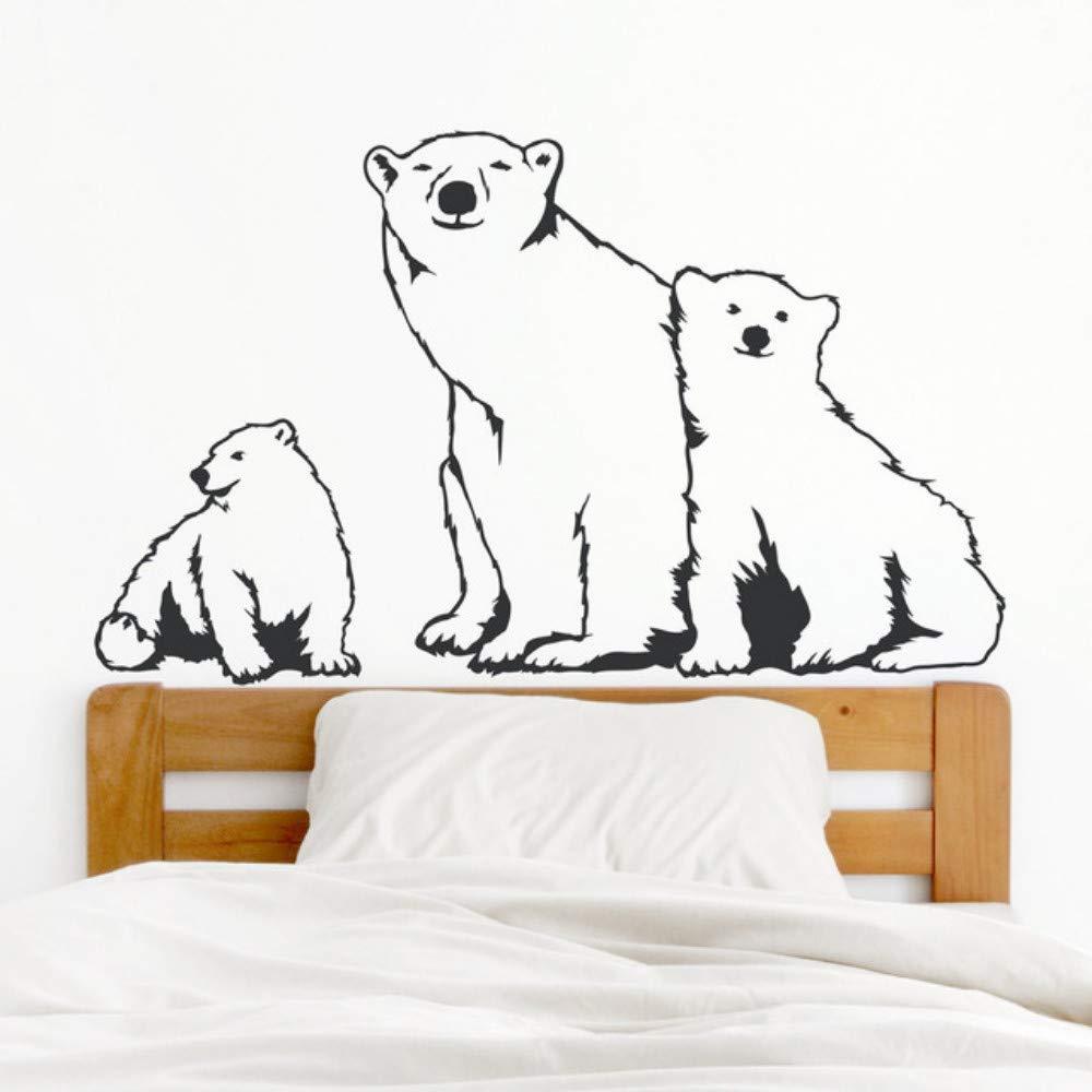 Jixiaosheng Oso Polar Familia Vinilo Pared Rs Dormitorio ...