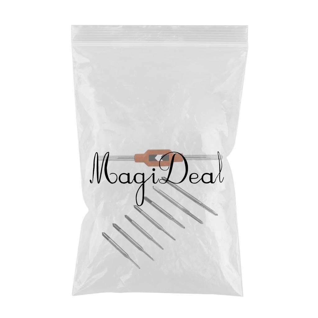 MagiDeal M1-M8 Einstellbar Ratsche Handgewindebohrer Reibahle M1.1-m2.5 Handgewindebohrer-Satz