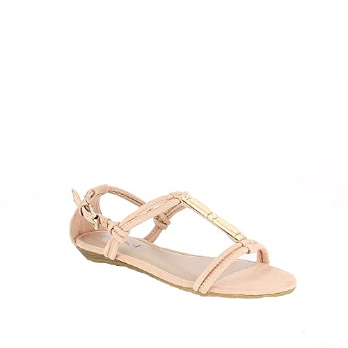 Ideal Shoes , Sandali donna, rosa (Rose), 38