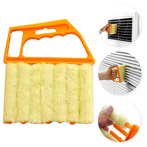 Mini Blind Cleaner - Blind Cleaner Tool,Bagvhandbagro Mini Hand-held Cleaner,Mini-Blind Cleaner,Dirt Clean Cleaner,Venetian Blind Brush Window Air Conditioner Duster Cleaner